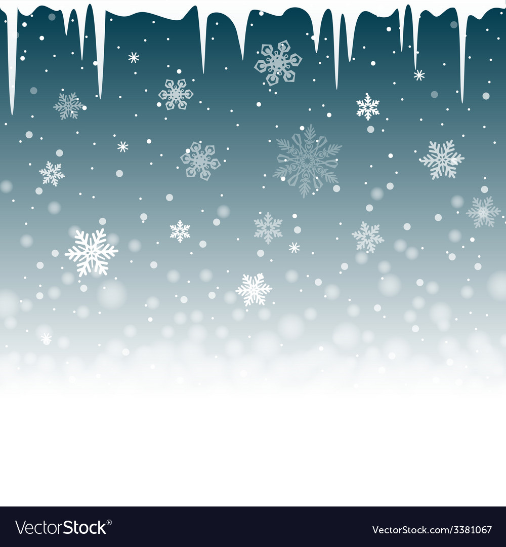 Christmas snowy background with icicles vector | Price: 1 Credit (USD $1)