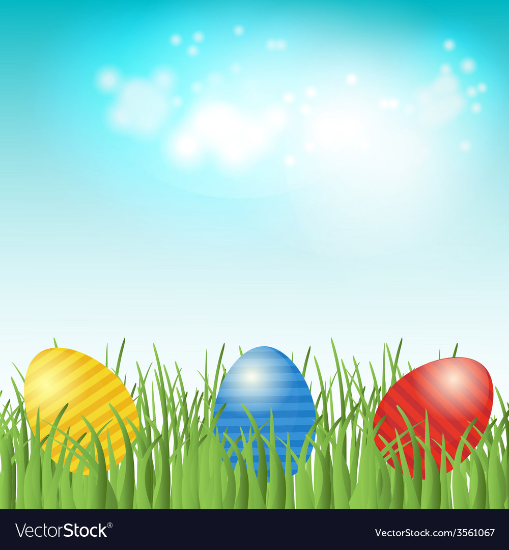 Easter background with copyspace in the sky vector | Price: 1 Credit (USD $1)