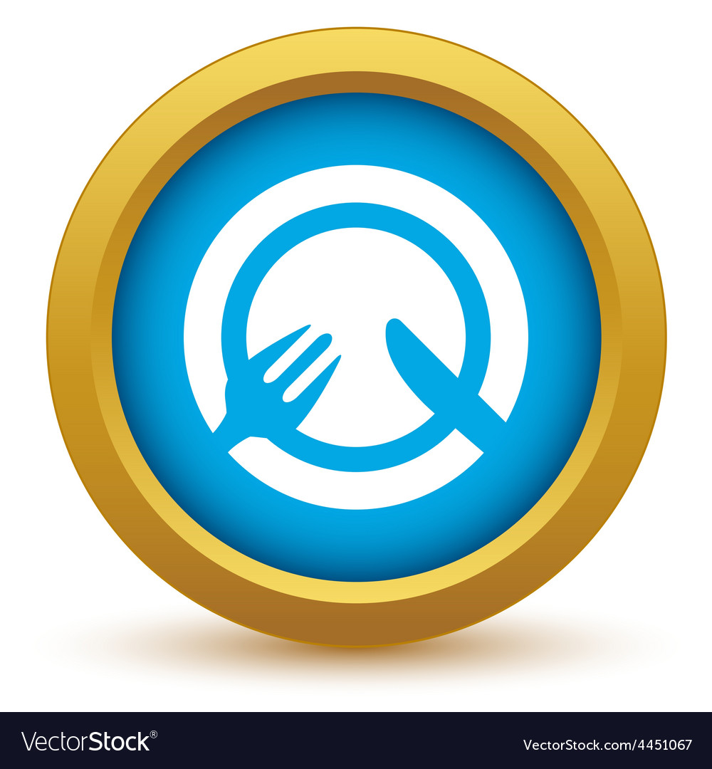 Gold lunch icon vector | Price: 1 Credit (USD $1)