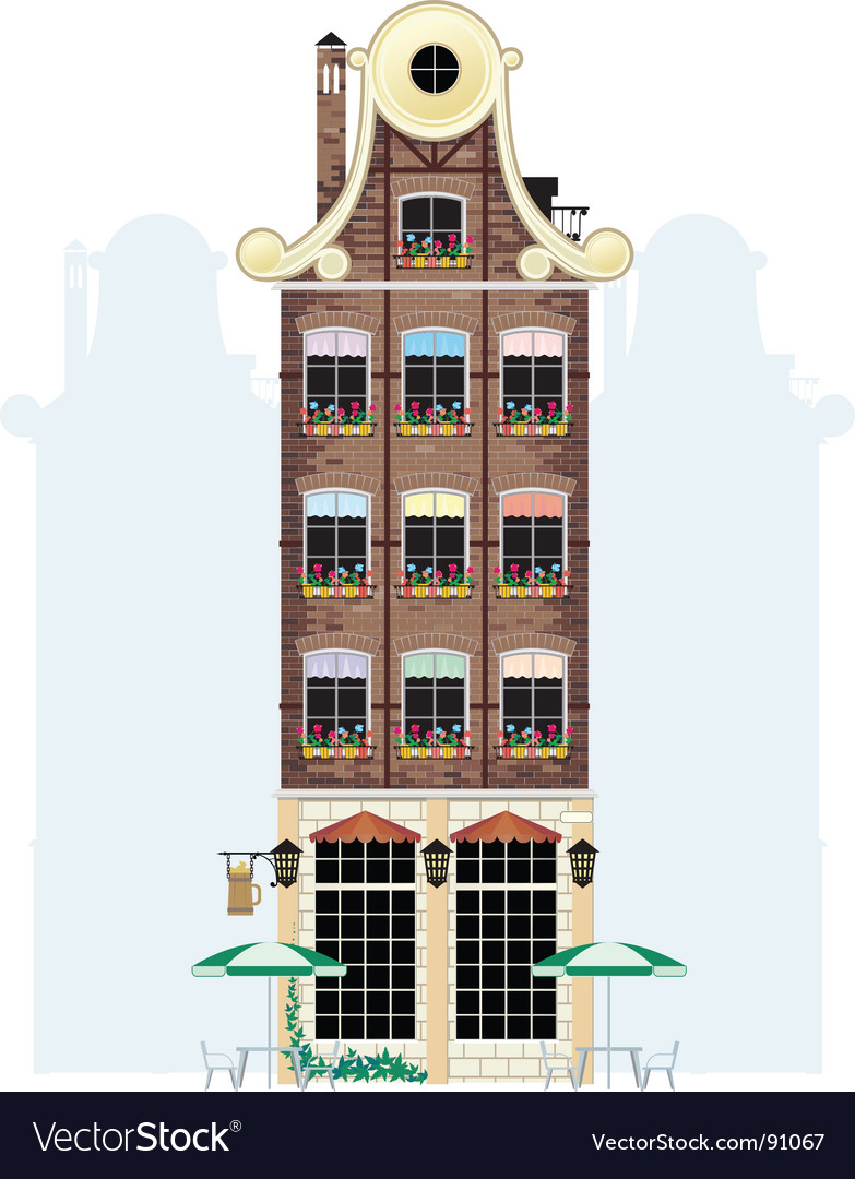 Holland house vector | Price: 3 Credit (USD $3)