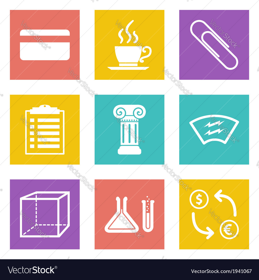 Icons for web design and mobile applications set 6 vector | Price: 1 Credit (USD $1)