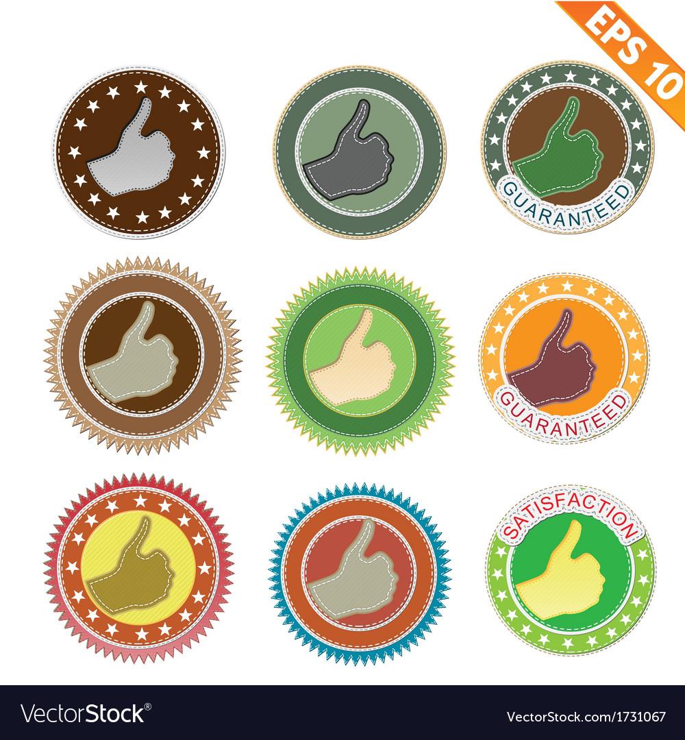 Label stitch sticker tag - - eps10 vector | Price: 1 Credit (USD $1)