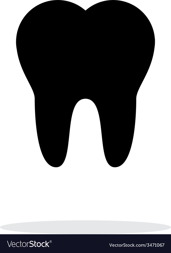 Tooth medical icon on white background vector | Price: 1 Credit (USD $1)