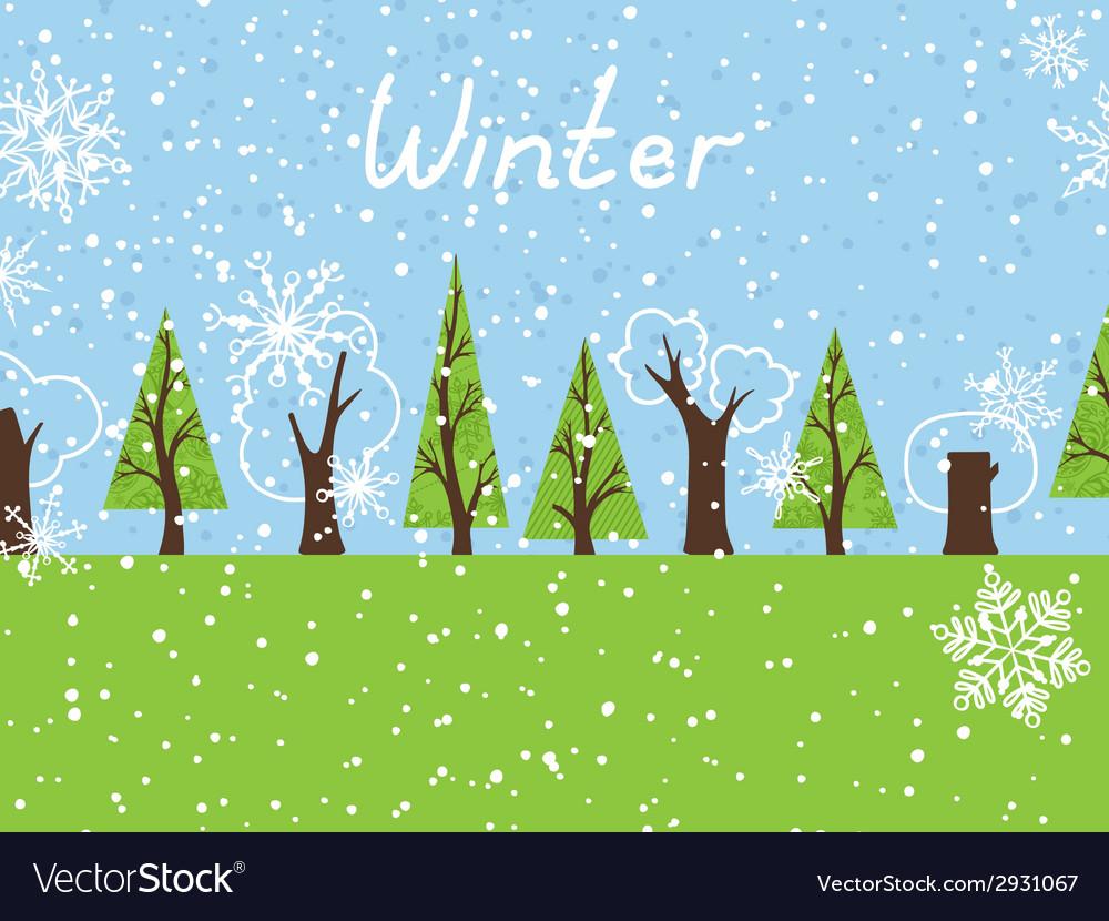 Winter background vector   Price: 1 Credit (USD $1)