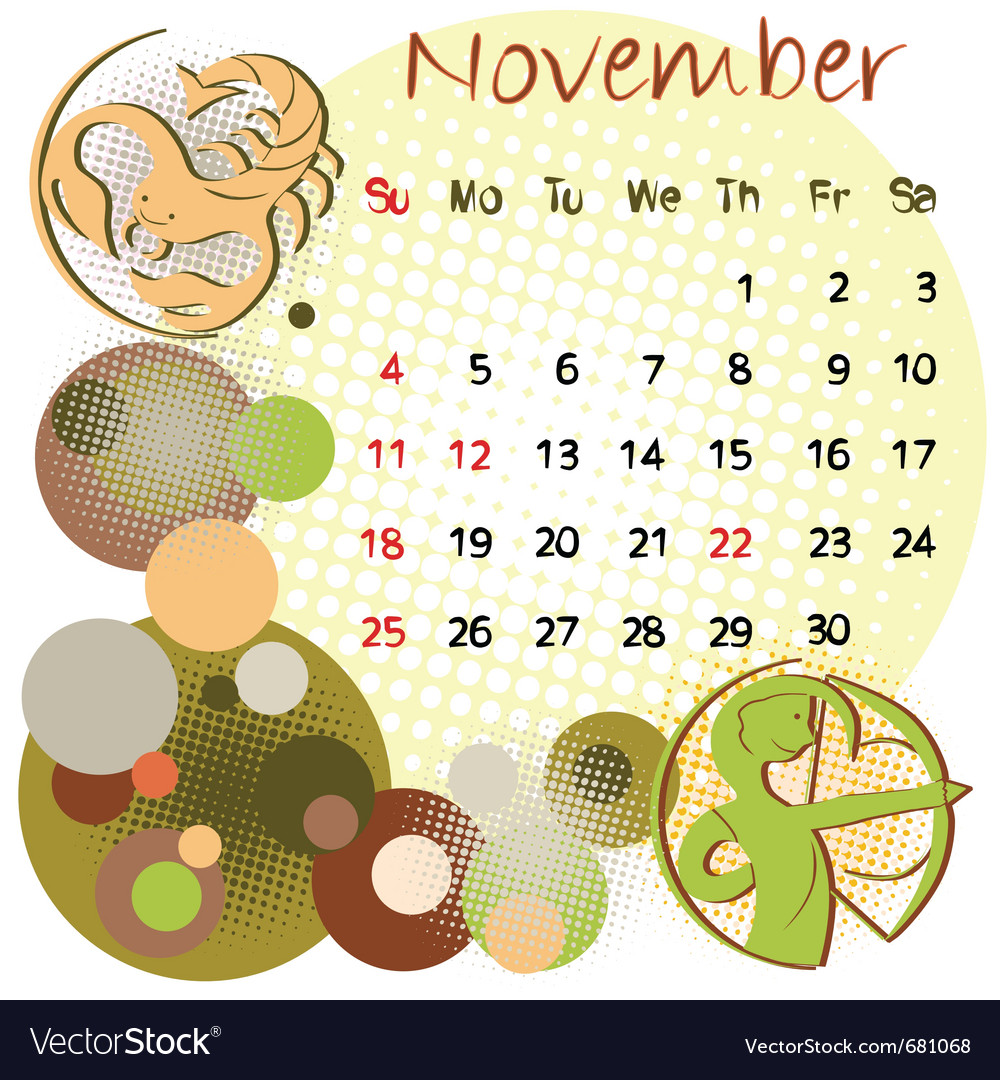 2012 calendar november vector | Price: 1 Credit (USD $1)