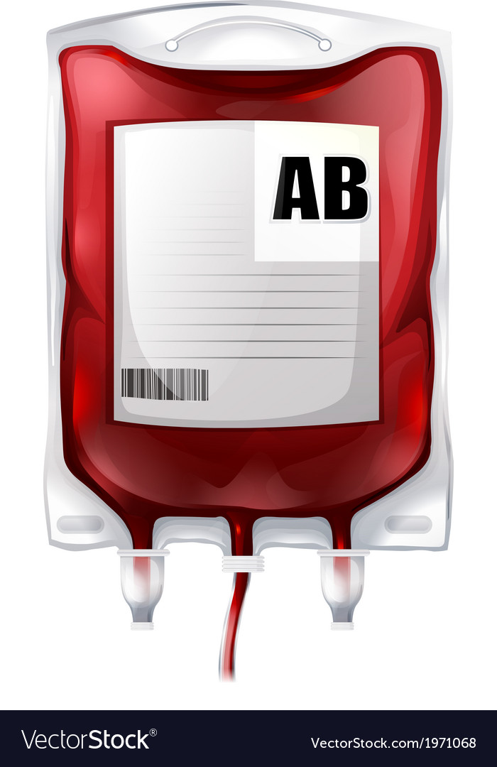 A blood bag with type ab blood vector | Price: 1 Credit (USD $1)