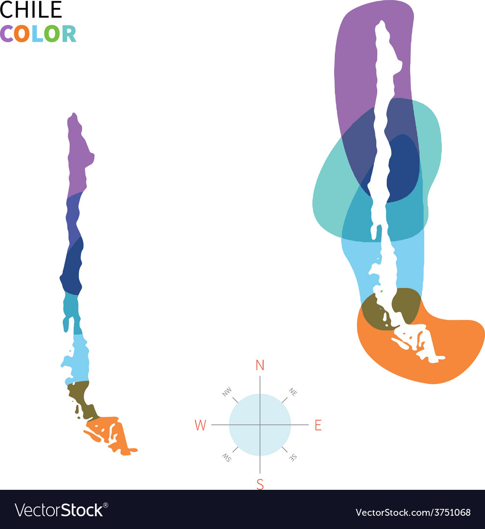 Abstract color map of chile vector | Price: 1 Credit (USD $1)