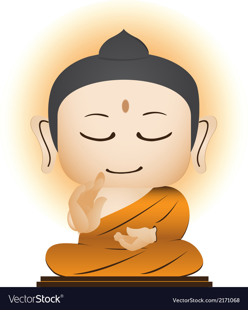 Buddha cartoon vector | Price: 1 Credit (USD $1)