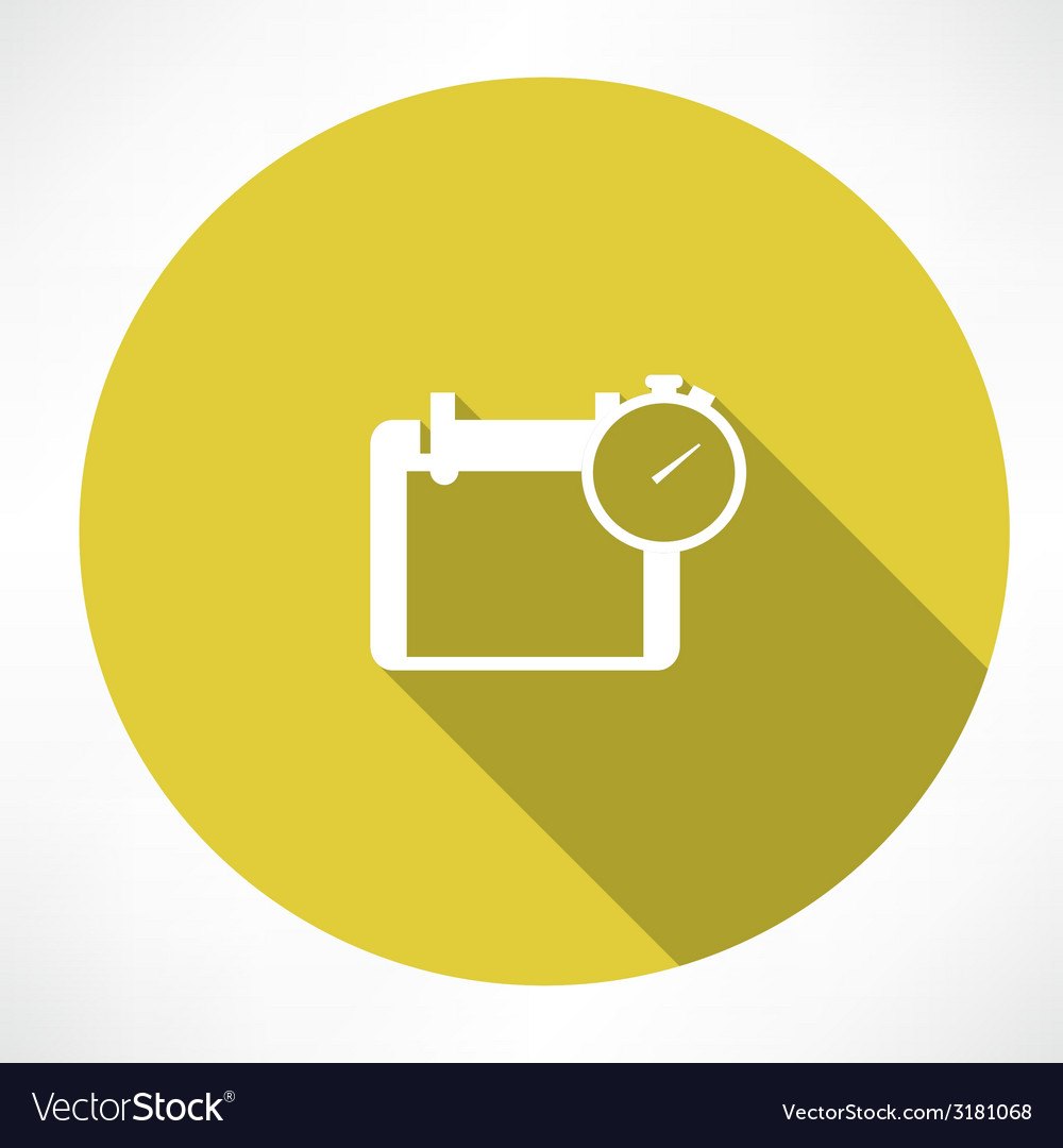 Calendar and stopwatch icon vector | Price: 1 Credit (USD $1)