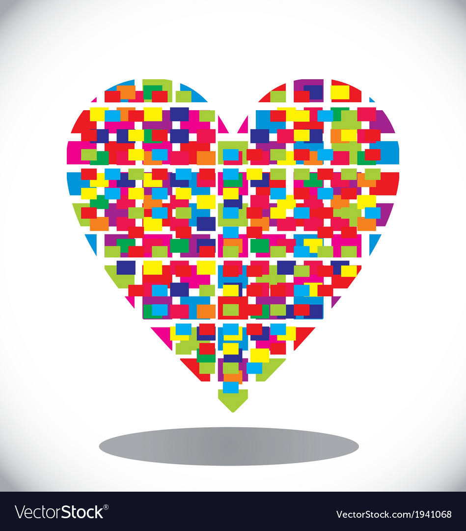Colorfull abstract heart vector | Price: 1 Credit (USD $1)