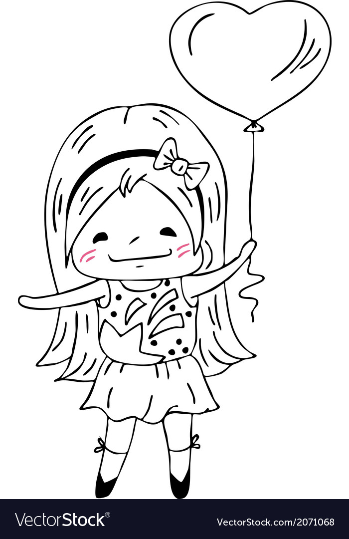 Little girl vector | Price: 1 Credit (USD $1)