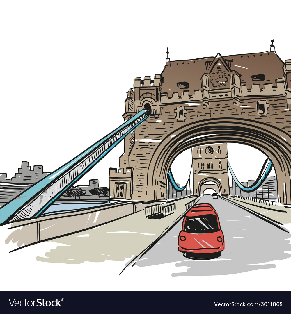 London bridge drawing vector | Price: 1 Credit (USD $1)