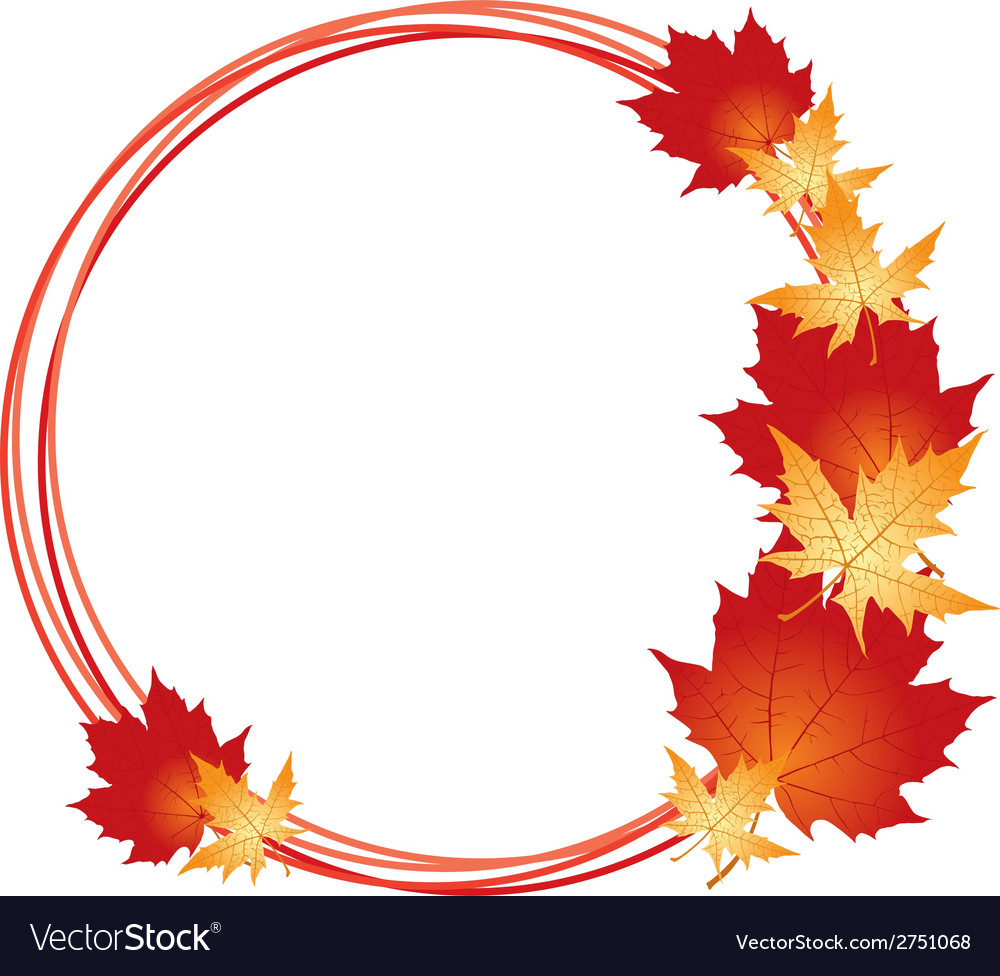 Maple frame vector | Price: 1 Credit (USD $1)