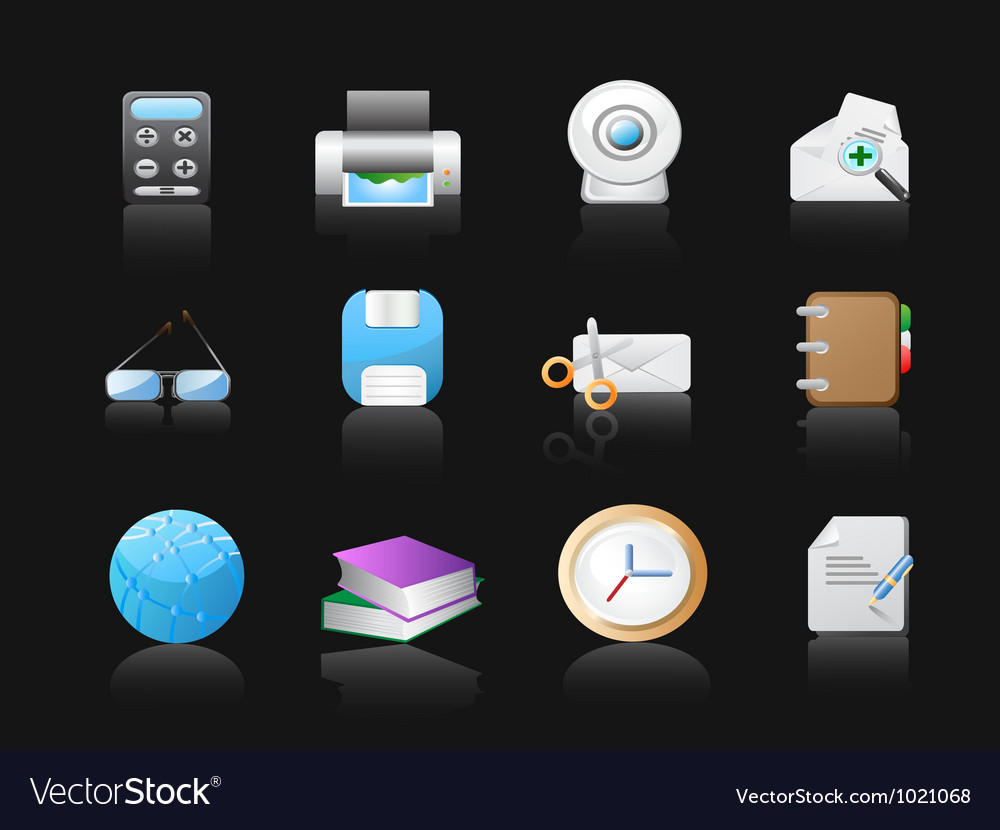 Office icon in black vector