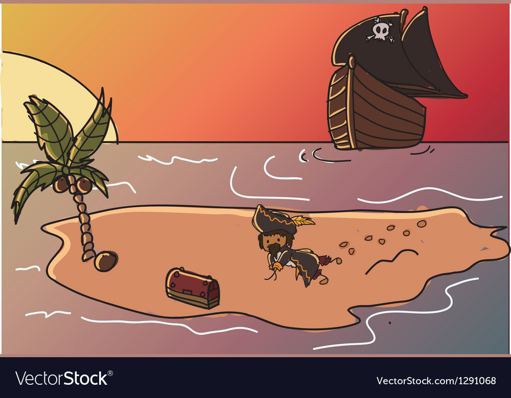 Pirate treasure vector | Price: 1 Credit (USD $1)