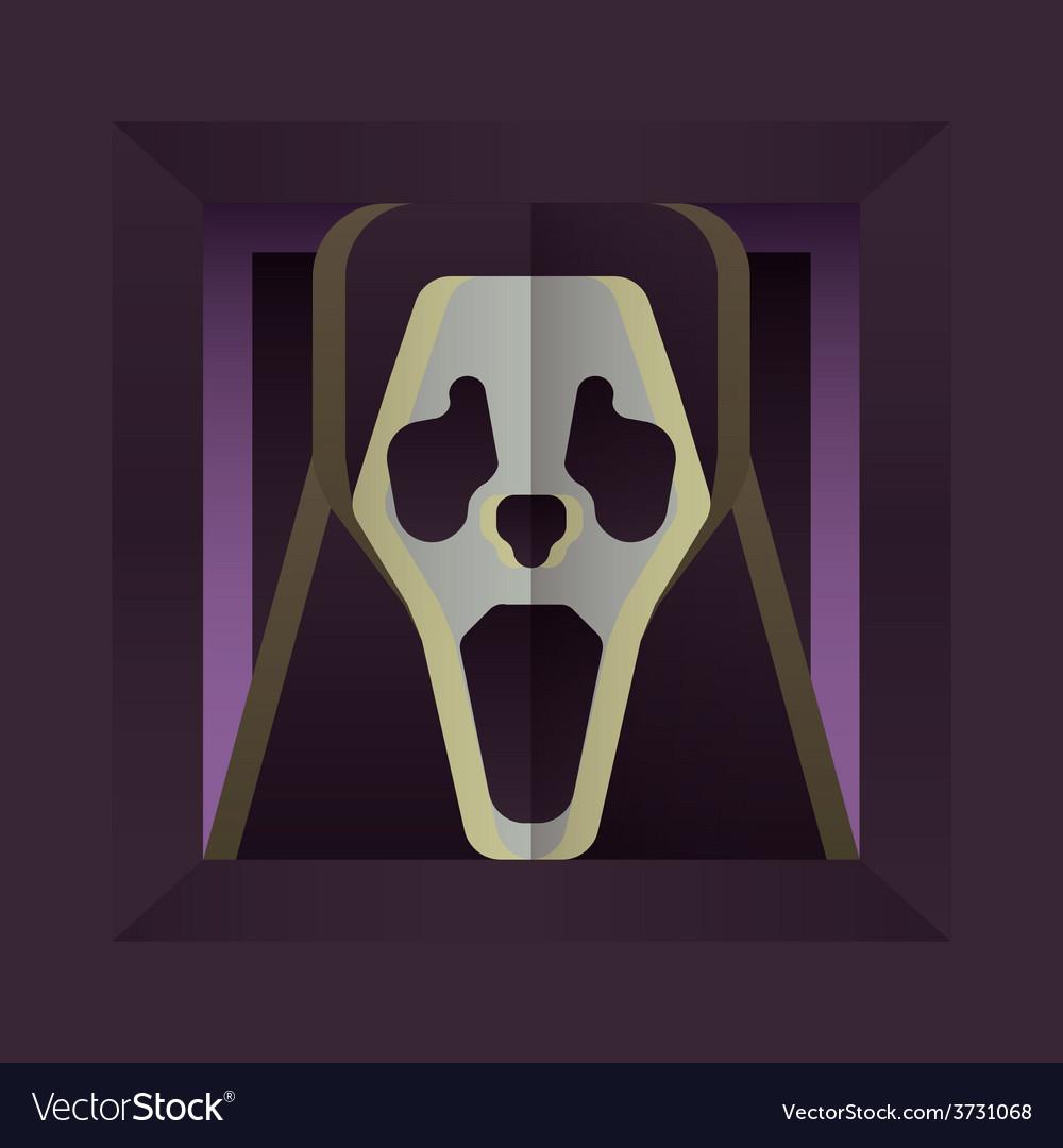 Screaming skull vector | Price: 1 Credit (USD $1)