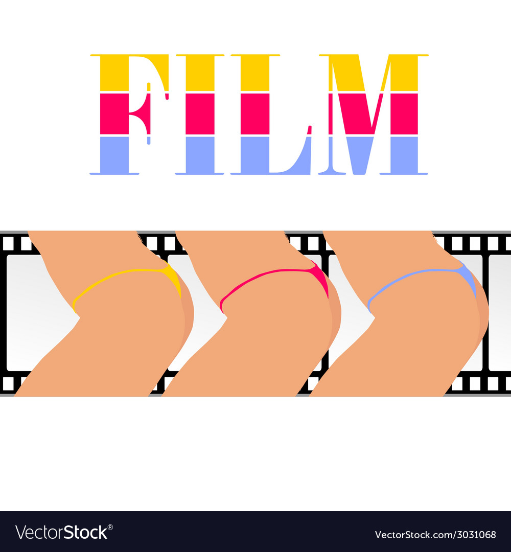 Woman ass with film track vector | Price: 1 Credit (USD $1)