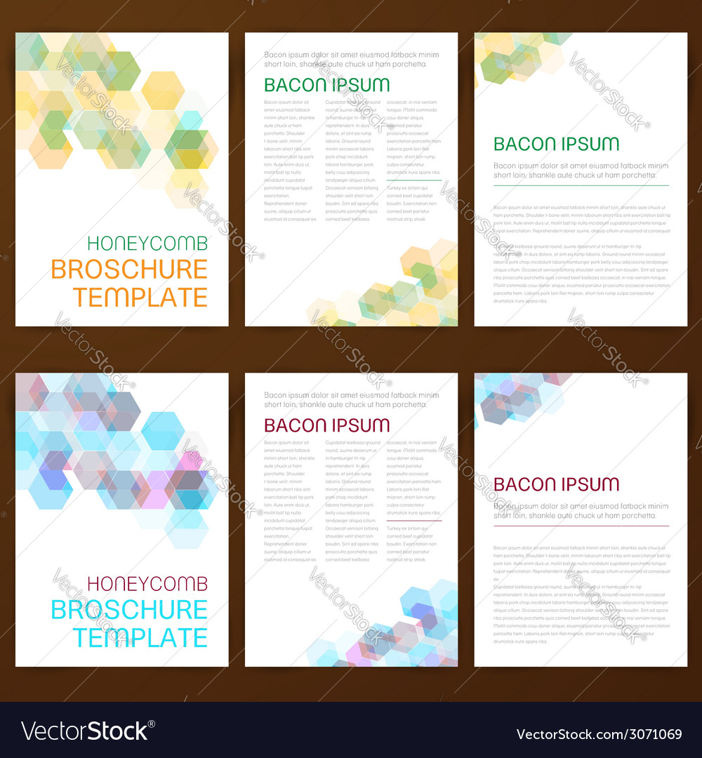 Abstract modern flyer brochure vector | Price: 1 Credit (USD $1)