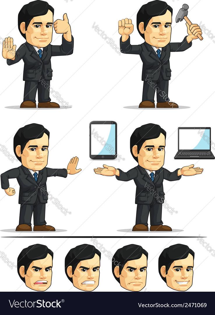 Businessman or company executive customizable 11 vector | Price: 1 Credit (USD $1)