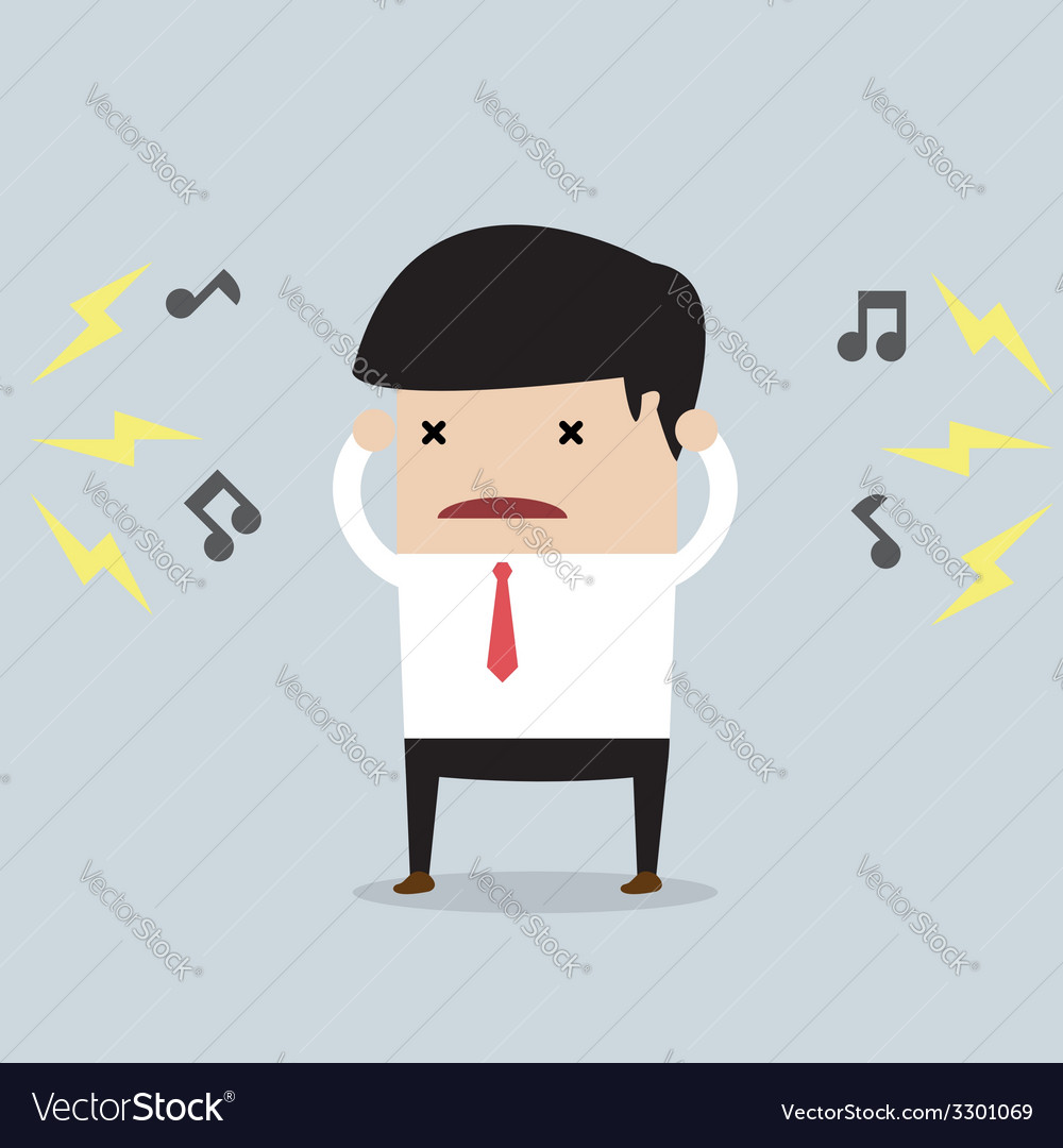 Businessman with noise vector | Price: 1 Credit (USD $1)