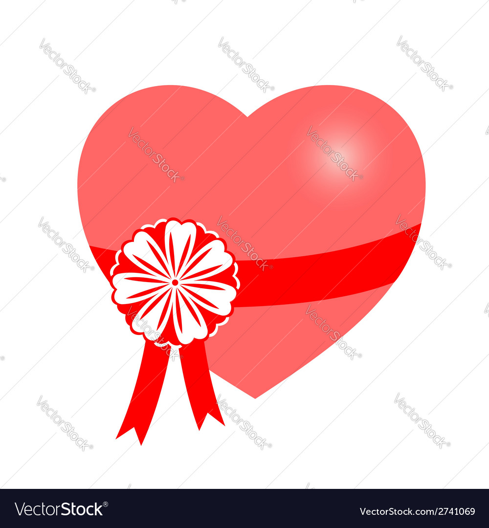 Heart gift vector | Price: 1 Credit (USD $1)