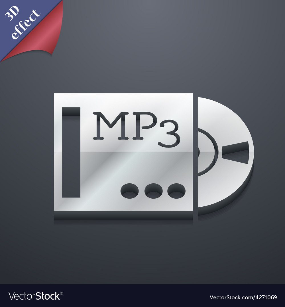 Mp3 player icon symbol 3d style trendy modern vector | Price: 1 Credit (USD $1)
