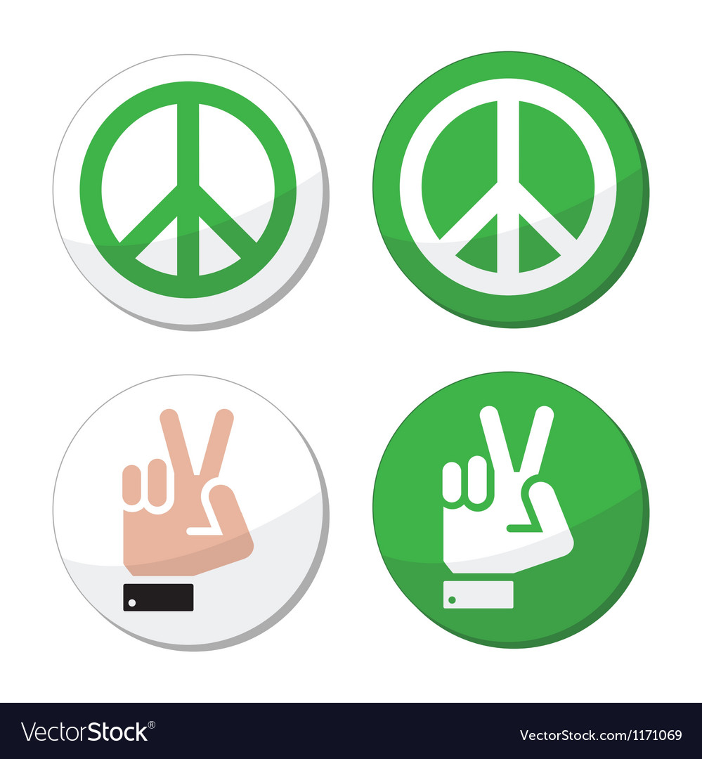 Peace hand sign icons set vector | Price: 1 Credit (USD $1)
