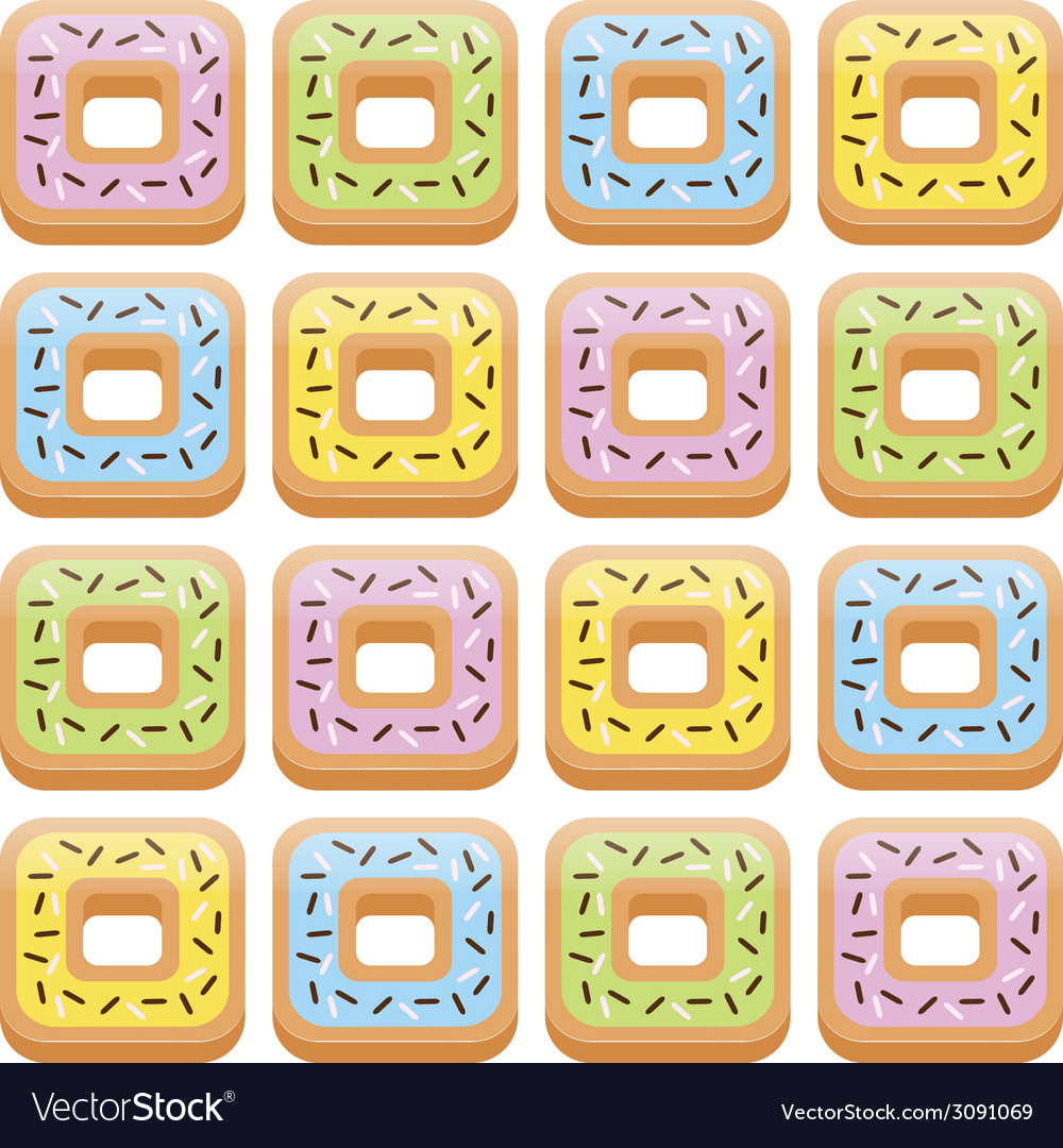 Seamless donut pattern vector | Price: 1 Credit (USD $1)