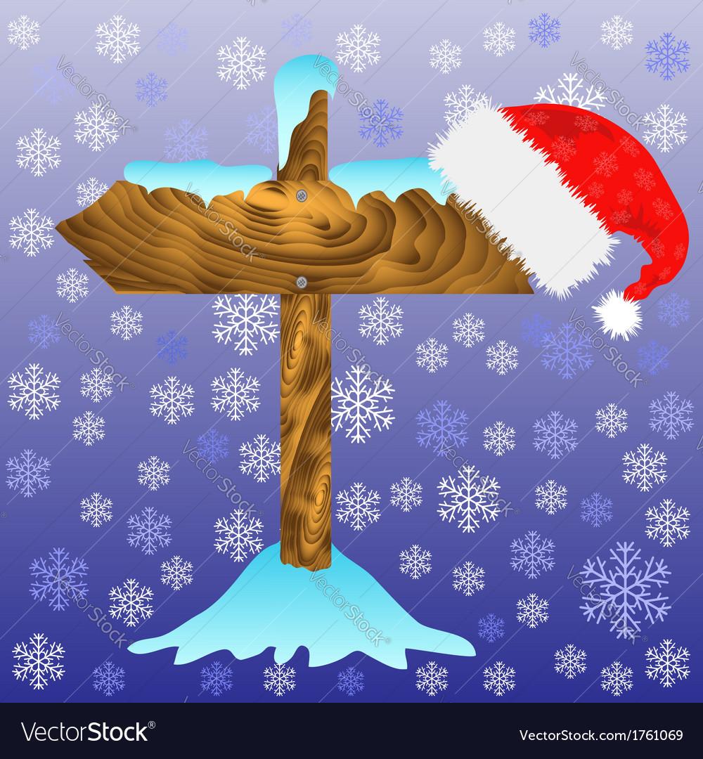 Winter arrow vector | Price: 1 Credit (USD $1)