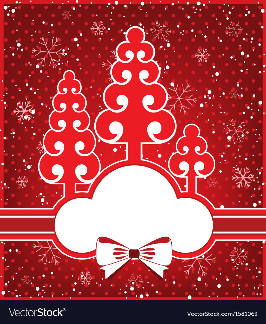 Winter greeting card vector | Price: 1 Credit (USD $1)