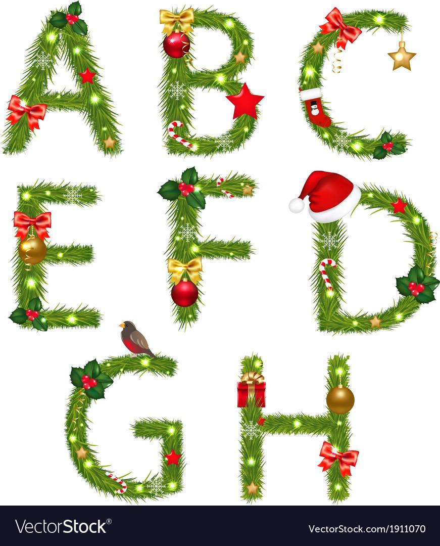 Christmas alphabet vector   Price: 1 Credit (USD $1)