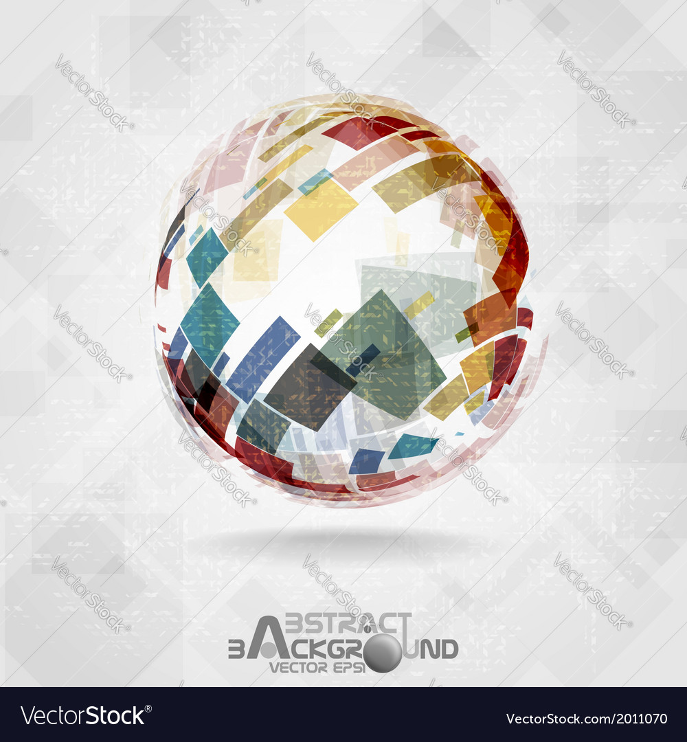 Colorful globe design vector | Price: 1 Credit (USD $1)