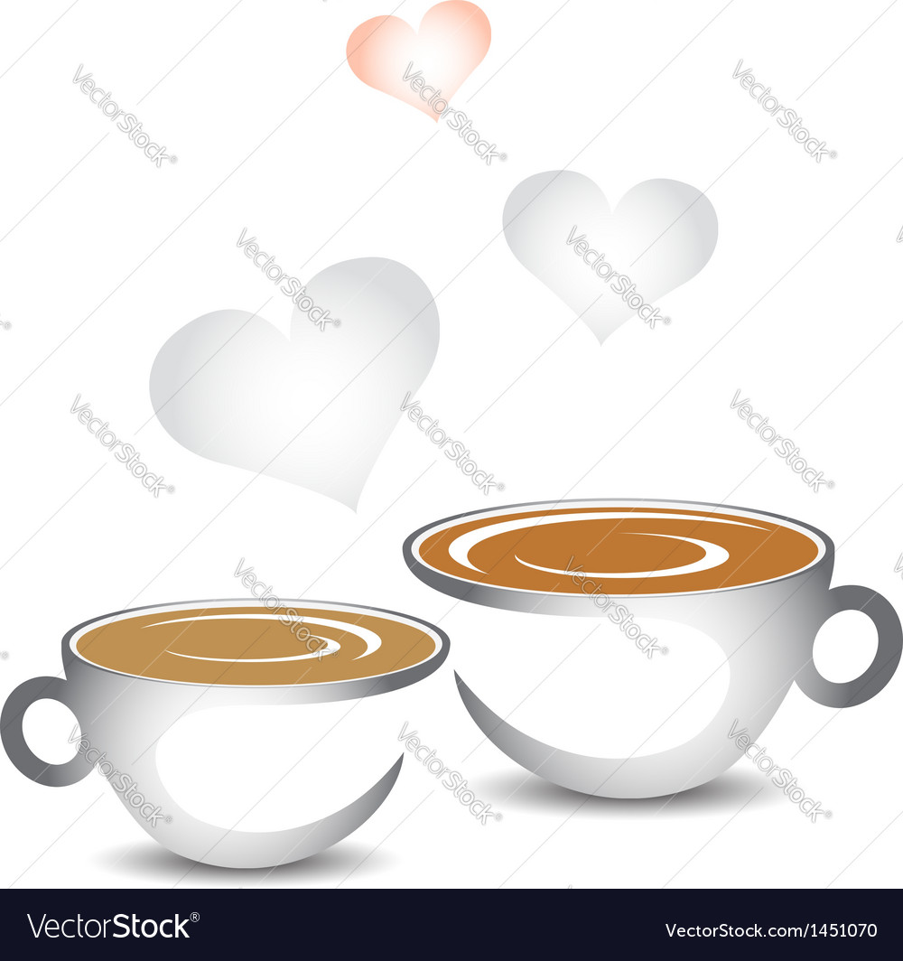 Cup of coffee with hearts vector | Price: 1 Credit (USD $1)