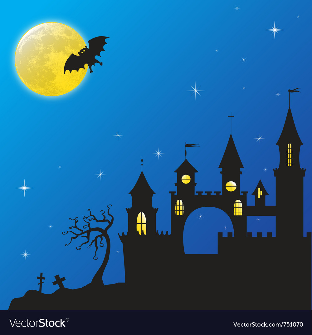 Haloween castle vector | Price: 1 Credit (USD $1)