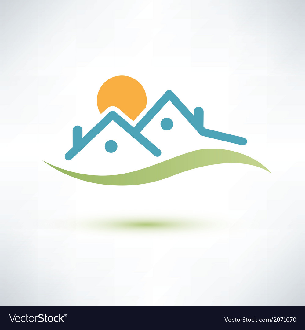 House symbol cottage icon vector | Price: 1 Credit (USD $1)