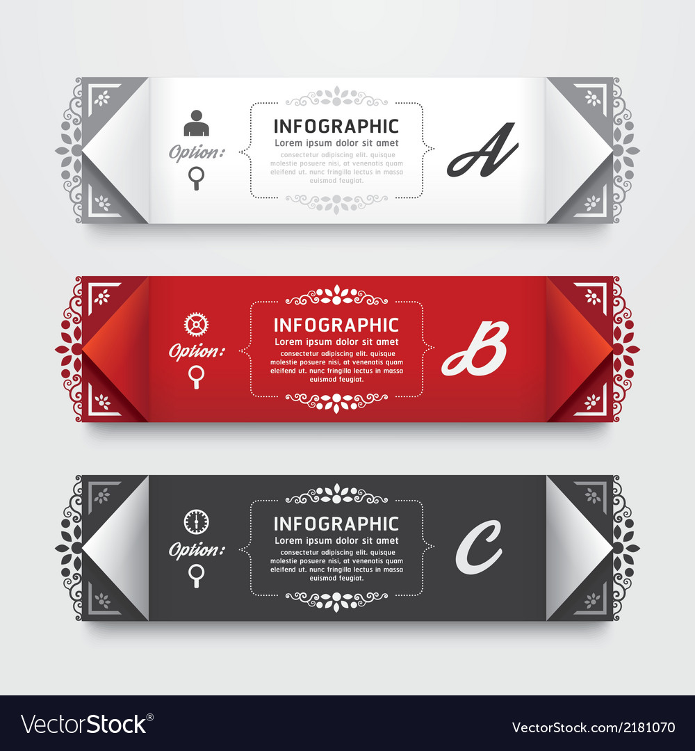 Infographic design modern vintage labels template vector | Price: 1 Credit (USD $1)