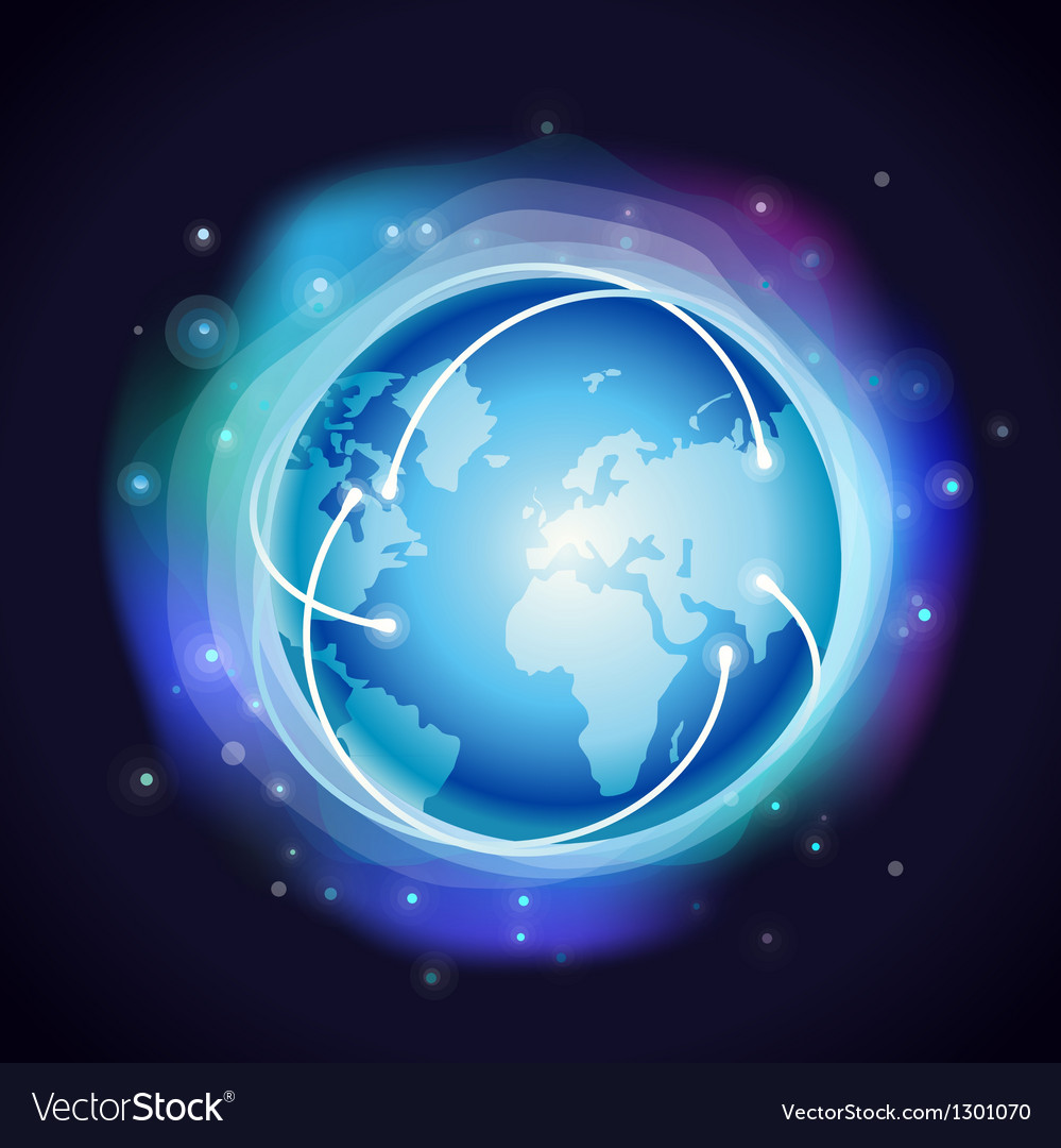 Internet concept - glowing globe vector | Price: 1 Credit (USD $1)