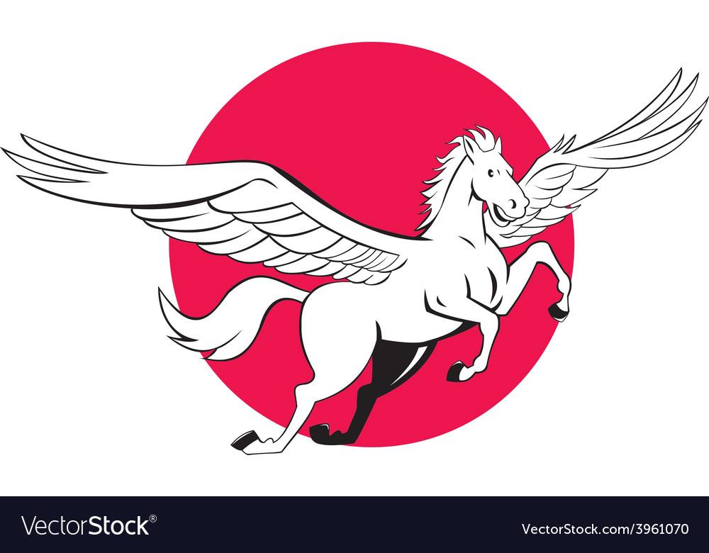 Pegasus flying horse cartoon vector   Price: 1 Credit (USD $1)