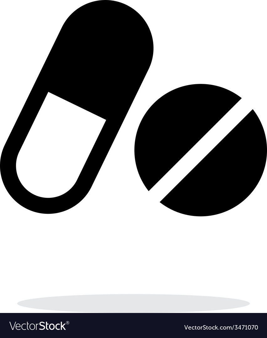 Pills icon on white background vector | Price: 1 Credit (USD $1)