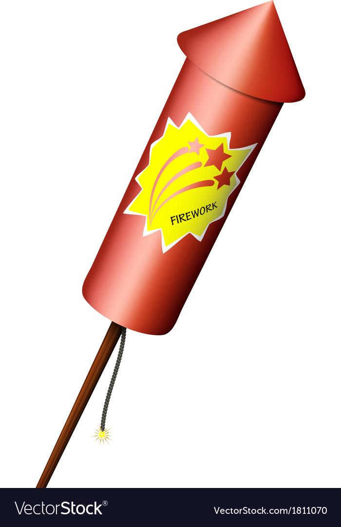 Rocket fireworks vector | Price: 1 Credit (USD $1)