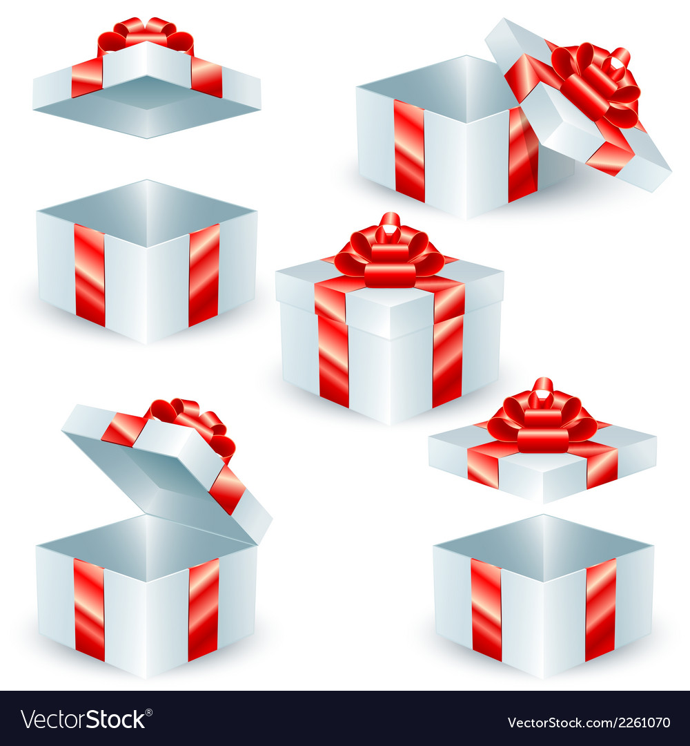 Square gift boxes vector | Price: 1 Credit (USD $1)