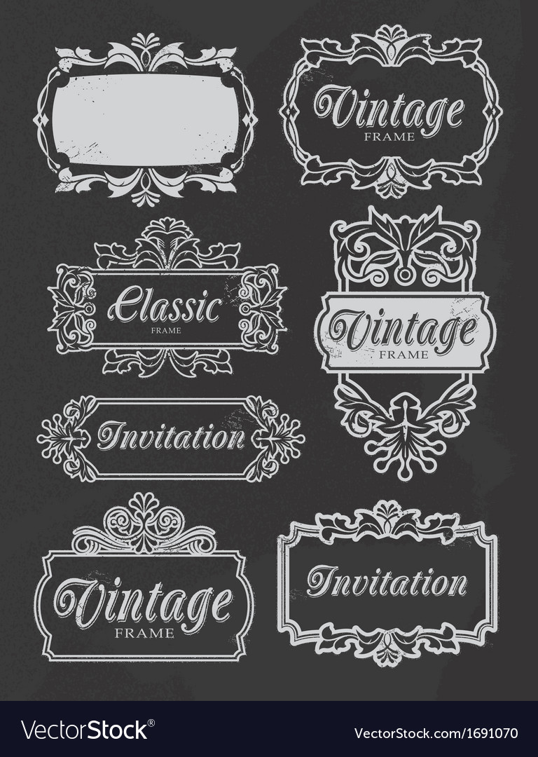 Vintage chalkboard banners vector | Price: 1 Credit (USD $1)