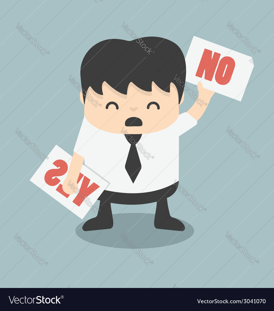 Yes or no vector | Price: 1 Credit (USD $1)