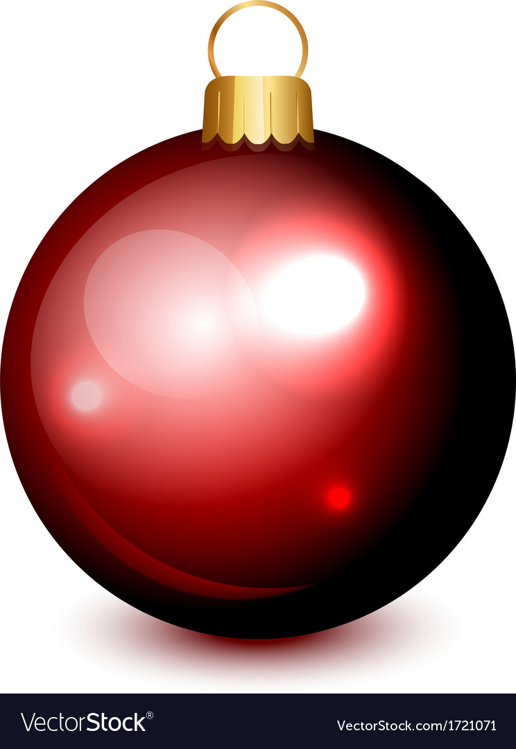 Christmas ball red isolated vector | Price: 1 Credit (USD $1)