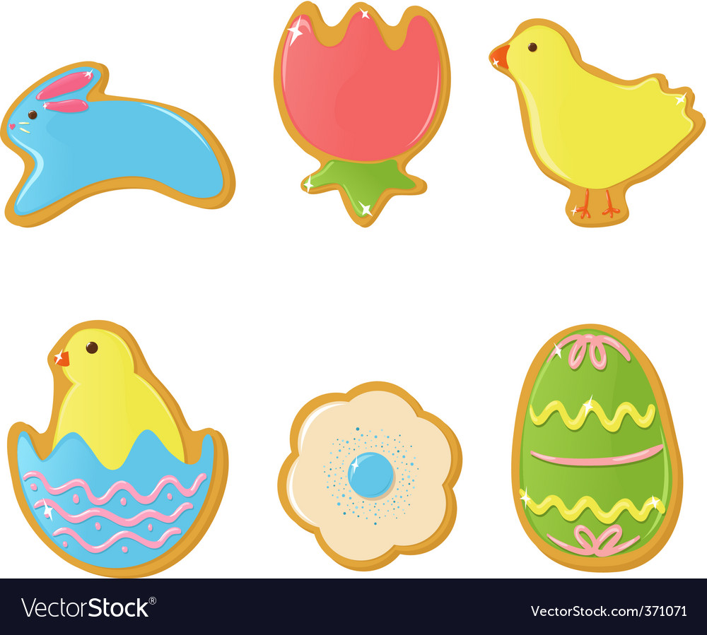 Easter cookies vector | Price: 1 Credit (USD $1)