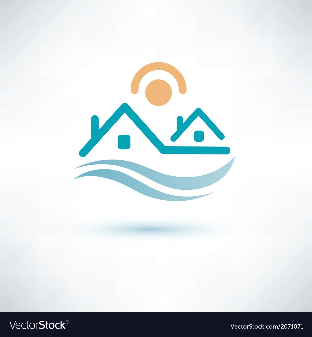 House symbol cottage icon vector   Price: 1 Credit (USD $1)