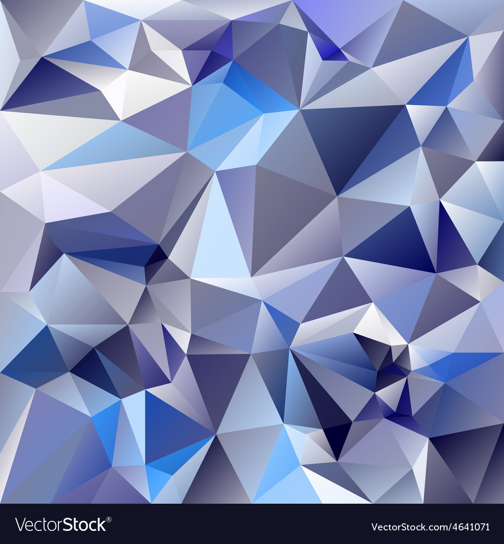 Ice glass blue polygonal triangular pattern vector | Price: 1 Credit (USD $1)