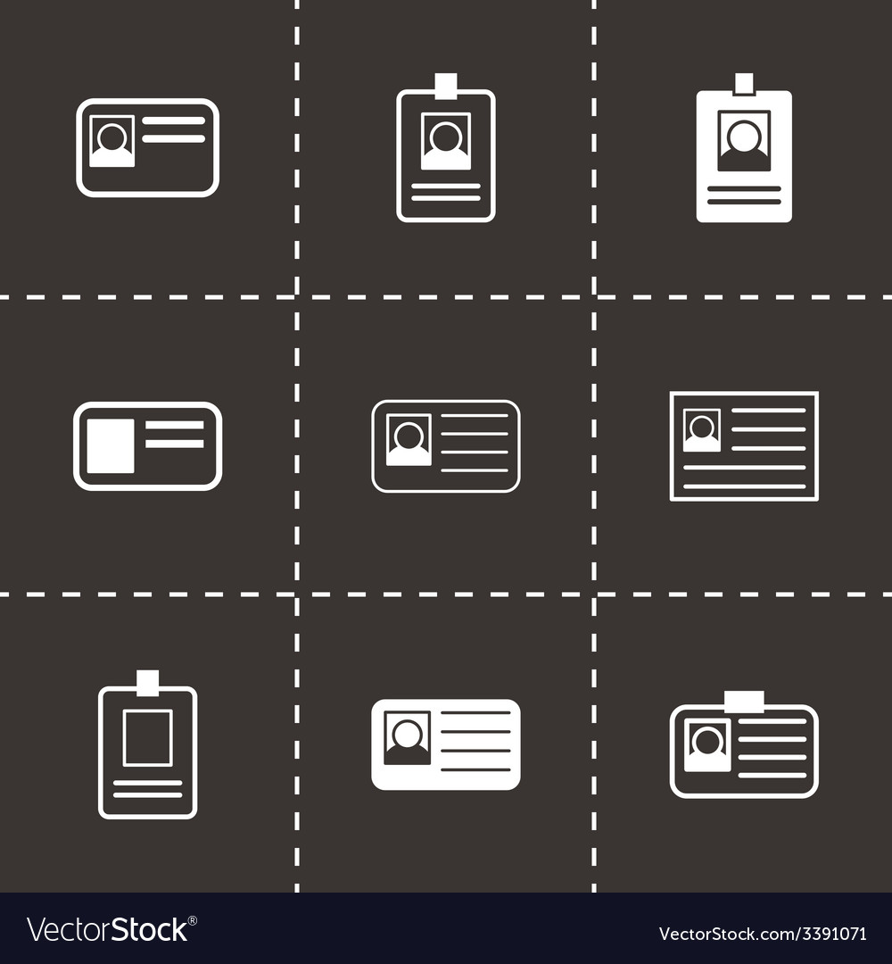 Id card icon set vector | Price: 1 Credit (USD $1)