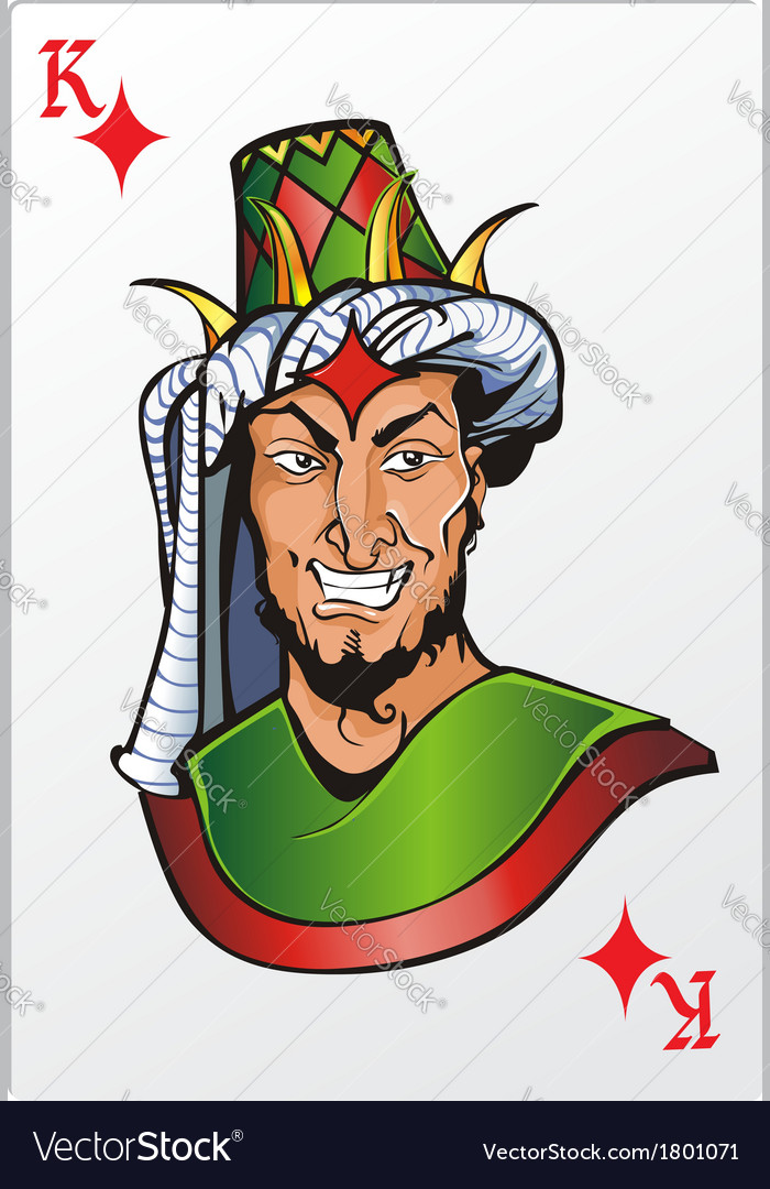 King of diamond deck romantic graphics cards vector | Price: 3 Credit (USD $3)