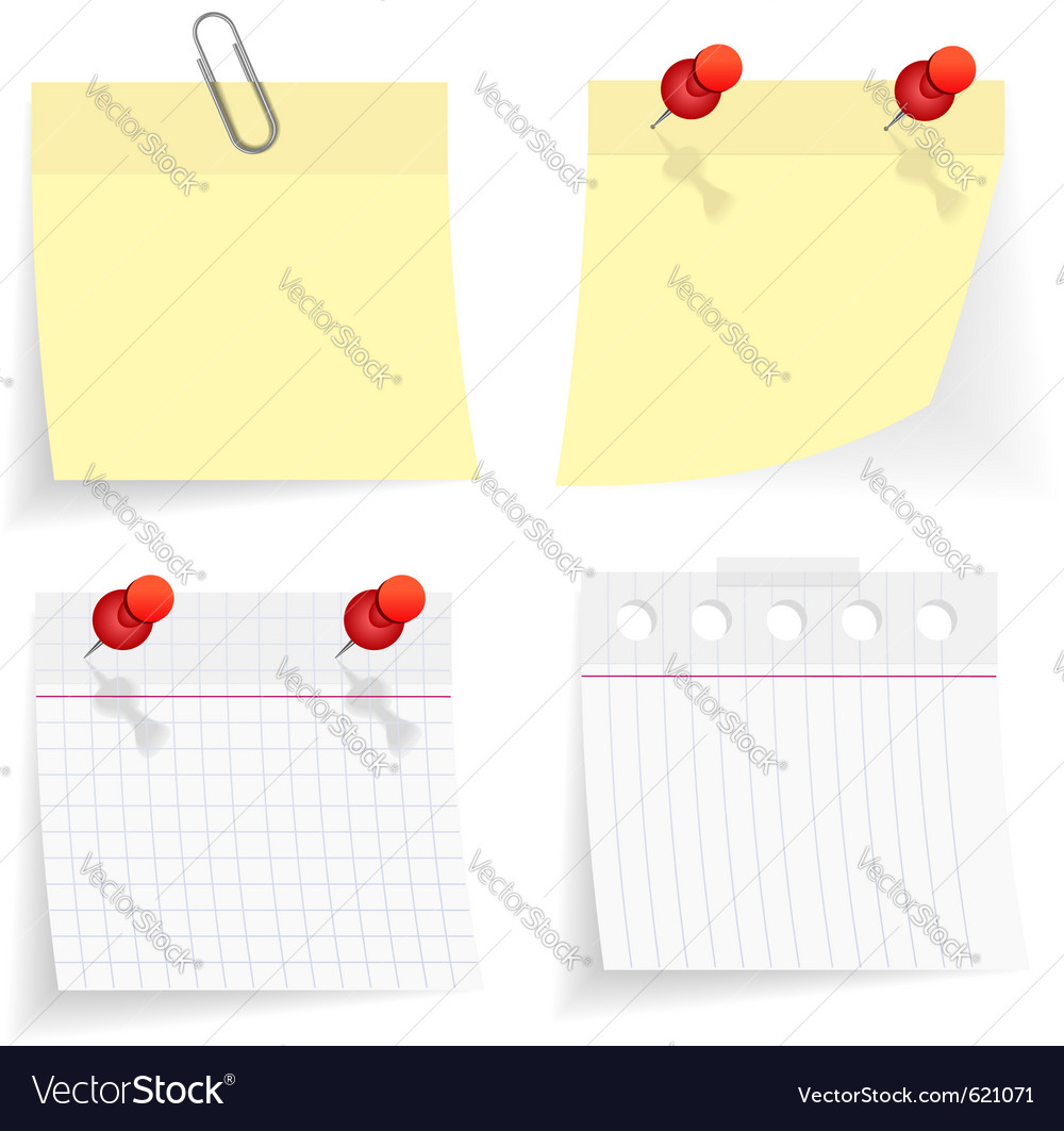 Note set vector | Price: 1 Credit (USD $1)